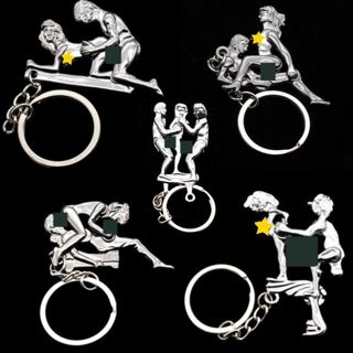 Mens Alloy Keyfob Gift Keyring Keychain Adults Lovers