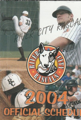 River City Rascals Independent Baseball Team 2004 pocket schedule
