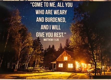 "Bible Quote MATTHEW 11:28!- 5 x 4"" MAGNET"