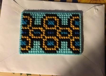 Handmade fancy design plastic canvas magnet