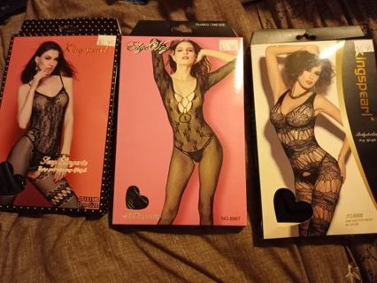 3 new in boxes women's sexy lingerie one size fits most