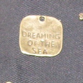 1 new copper colored Dreaming of the Sea new 1 inch charm
