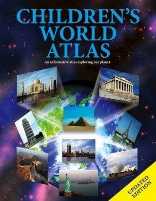 Brand New Gift Quality CHILDREN'S WORLD ATLAS Colorfully Illustrated Hardcover Book IGLOOBOOKS