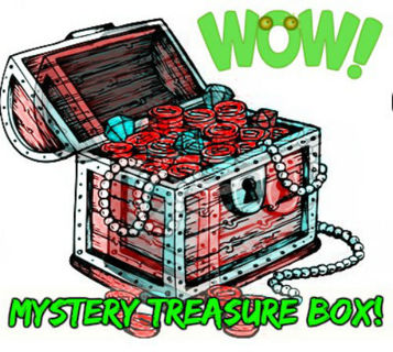 MYSTERY BOX - Stuffed Medium Flat Rate Box of Stuff! - Jewelry, Crafts, Clothing, Films, Books++++