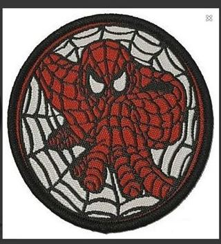 LAST ONE!! SPIDERMAN Patch Spiderman Web Crawling Clothing Embroidery Applique Sew On Badge FREE