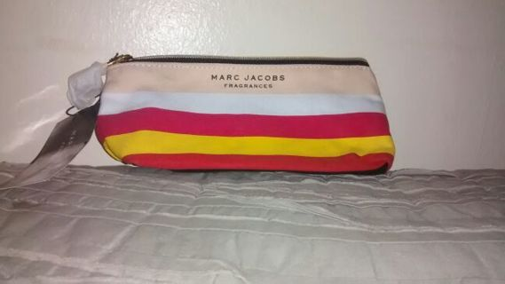 Marc Jacobs Small Canvas Makeup CR Fragrance Cosmetic Bag BNWT