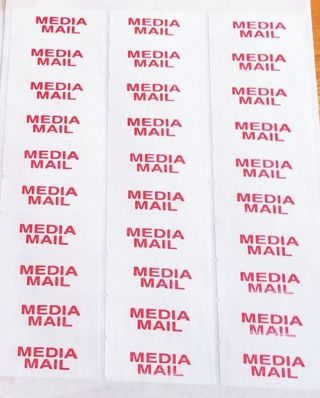 1 sheet of {MEDIA MAIL} LABELS *ShipsFREE in US*