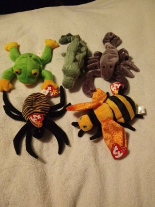 Beanie Babies Reptials and Bugs