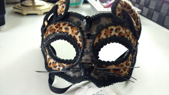 Sexy Halloween sequin cat , leopard, tiger mask