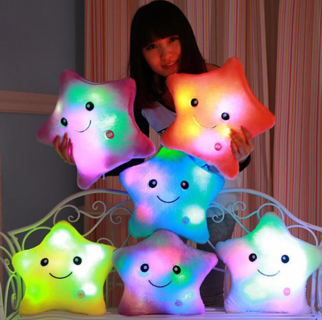 *Star Pillow with Light* Plush Cute LED Soft Kids Children Sleeping #100