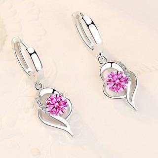 Blue Pink White Purple Crystal Zircon Hot Selling Earrings