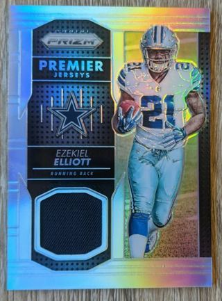 EZEKIEL ELLIOTT ROOKIE PRIZM GAME WORN JERSEY CARD