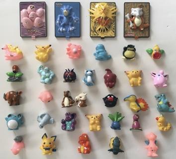 Pokemon The Movie 2000 Burger King Pikachu Project Toys Bandai Mini-Figures Pencil Toppers Lot of 36