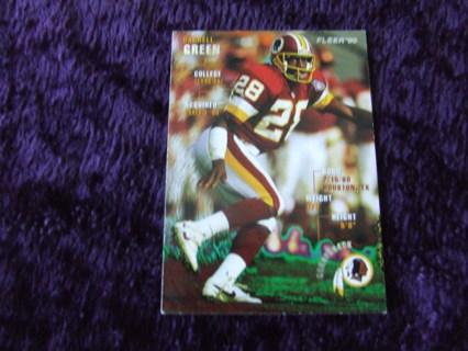 1995 HOFer Darrell Green Washington Redskins Fleer Card #387