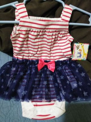 Baby cute Four of July one piece