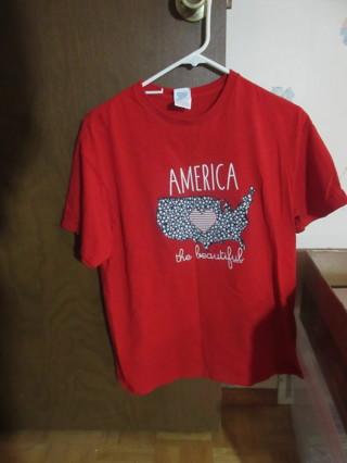 Women's Patriotic T-Shirt Size Large