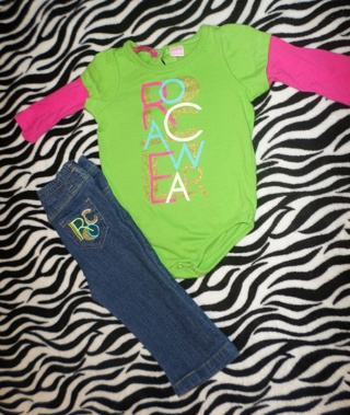 •BABY•GIRL•ROCA•WEAR• OUTFIT •6-9•MONTHS•