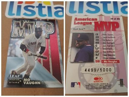 MO VAUGHN⭐BOSTON RED SOX ⭐ 1998 LEAF INSERT⭐ MVP #/5,000⭐ FREE $HIPPING