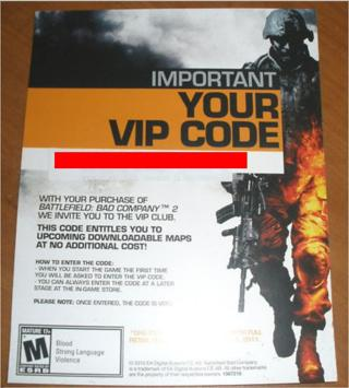 Free: Bad Company 2 VIP Code for Xbox 360 and PS3 - Rewards