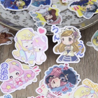 ఇ Sweet Girls Cartoon Kawaii High End Sticker Flakes Set of 10 BRAND NEW ఇ