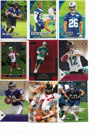 (9) Football Rookie Cards