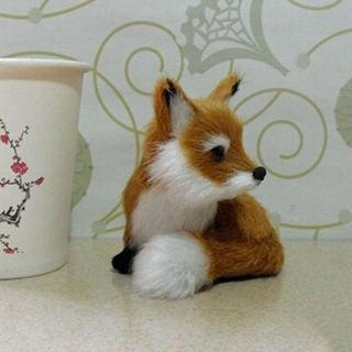 "Cute Tiny Sitting Fox Plush Stuffed Toy Animal Birthday Gift Home Decors 3"""