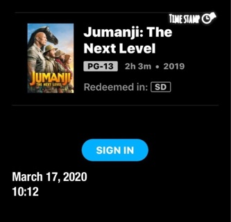 JUMANJI THE NEXT LEVEL !! movies anywhere only code