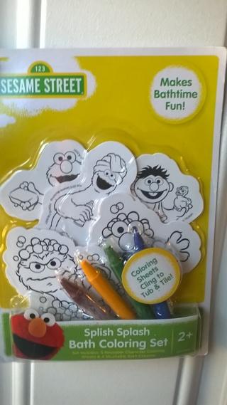 Sesame Street bath coloring set