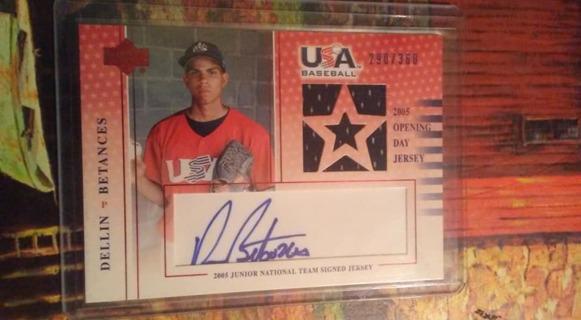Dellin Betances - Autograph - Game Used Jersey - #'d 290/360