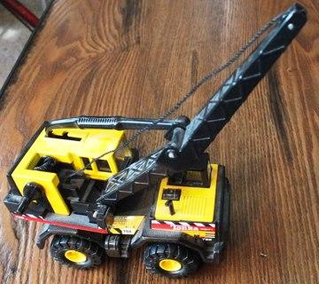 Collectible Plastic Tonka Toy Crane
