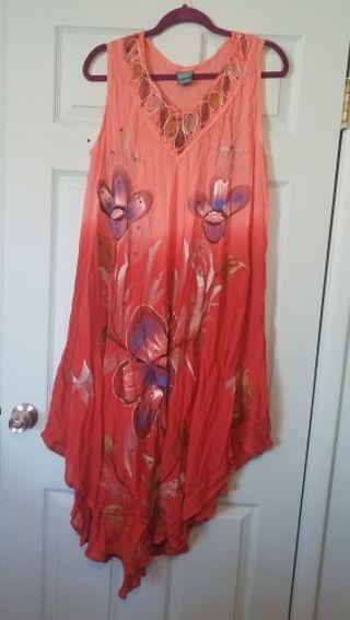 STUNNING Ombre Burnt Orange Free Size Summer Dress