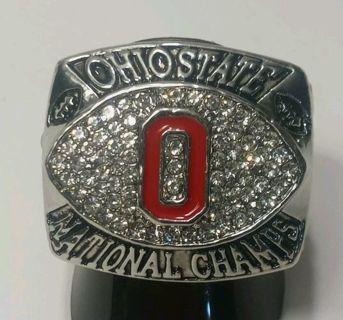 MEN'S SIZE 11 REPLICA 2002 NCAA OHIO STATE BUCKEYES NATIONAL CHAMPIONSHIP FOOTBALL RING