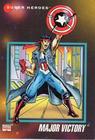 1992 Marvel Comic Trade Card: Major Victory