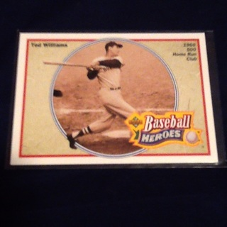 Ted Williams Boston Red Sox 1991 Upper Deck Baseball Heroes 34 of 36