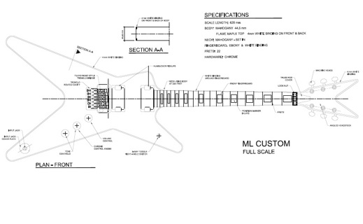 Ml Dimebag Darrell Style Guitar Templates
