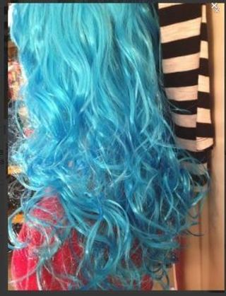 NEW Blue Wig Anime Manga Cosplay Wig Roleplay Costume Hair FREE SHIPPING
