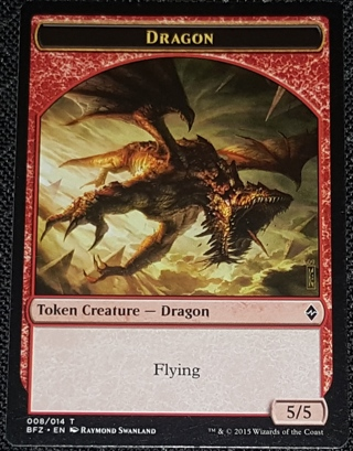 MTG Dragon Token Battle for Zendikar Magic the Gathering trading card (2015)
