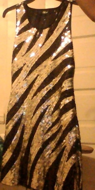 """""""Sparkly"""" Homecoming Dress (Black and Silver)"""