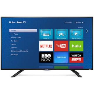 "'NEW! Haier 49""1080p SMART ROKU LED HDTV 60Hz BRAND NEW!"