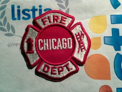 Chicago fire department badge patch