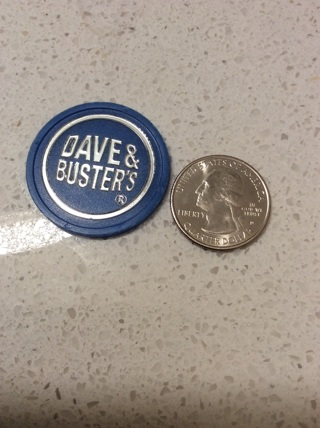 Blue Dave & buster's token