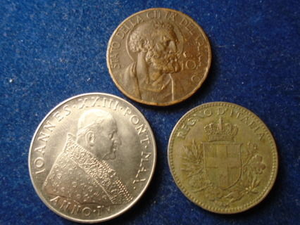 1918 1934 & 1981 VATICAN CITY OLD COINS!