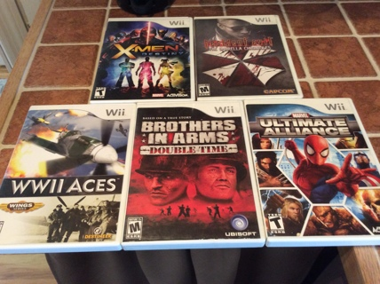 NINTENDO WII Video Game Lot X-MEN- RESIDENT EVIL- MARVEL ULTIMATE ALLIANCE More