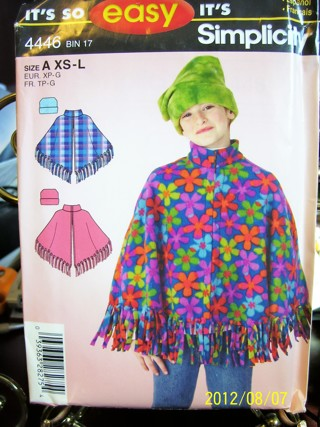 Free Simplicity Easy Girls Poncho Sewing Pattern Sewing Listia