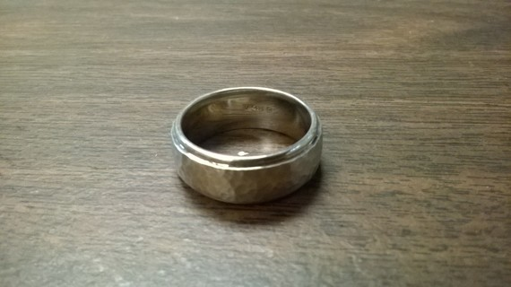 Sterling Silver Wedding Band unisex NEW size 13.5