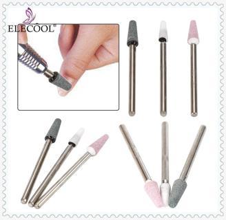ELECOOL 4PCS/LOT Taper Nail Art Drill Manicure Tool Silicon Carbide Carborundum Head Wheel Shank G