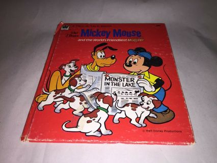 Vintage 1976   Disney Book MICKEY MOUSE and the World's Friendliest Monster