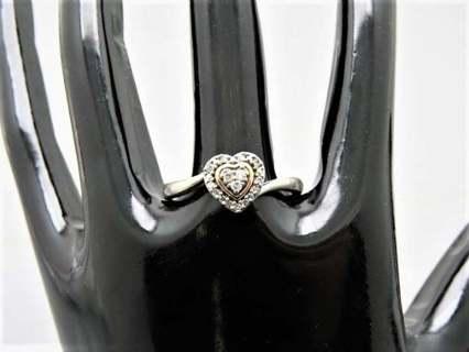 Kay's 10k 925 Trio Diamond Halo Heart Ring