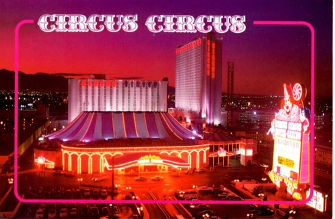 Circus Circus Hotel Casino Postcard ~ Las Vegas Nevada