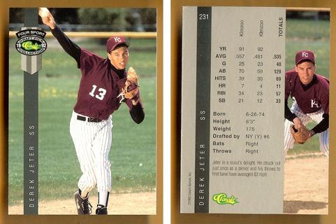 Free Rare Derek Jeter 1st Rookie Card 1992 Classic 4 Sport